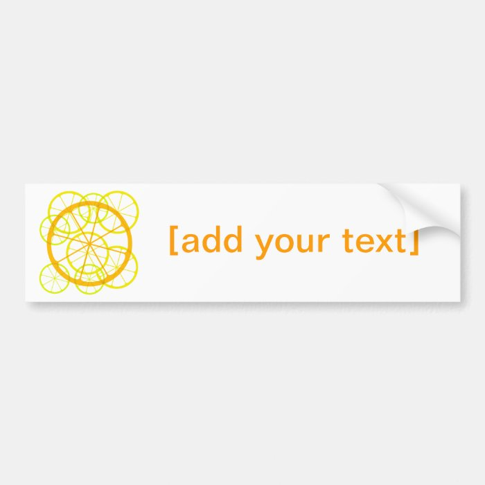 Testy/zesty fruits bumper sticker
