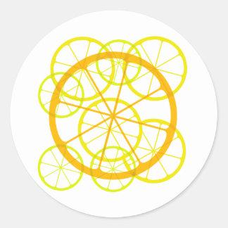 Testy/zesty fruits classic round sticker