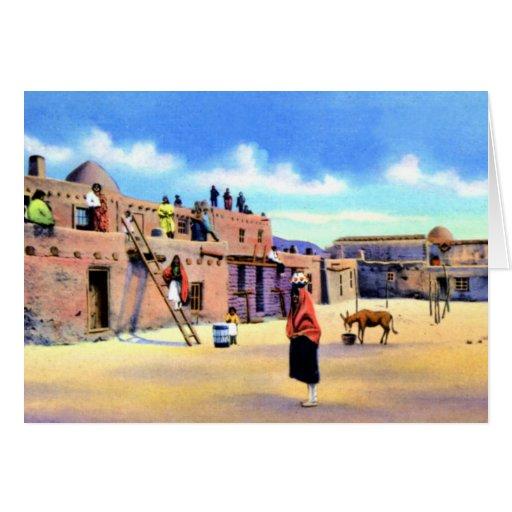 Tesuque New Mexico Pueblo Card