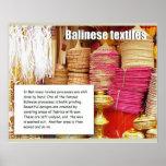 Tesxtiles, materias textiles del Balinese Impresiones