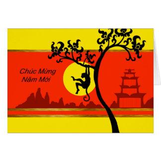 Tet, Año Nuevo lunar vietnamita del mono Tarjeta De Felicitación