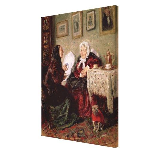 Tete-a-Tete, 1909 Canvas Print