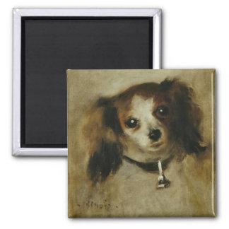 Tête de chien - Pierre Auguste Renoir 2 Inch Square Magnet
