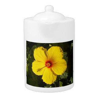 Tetera amarilla del hibisco