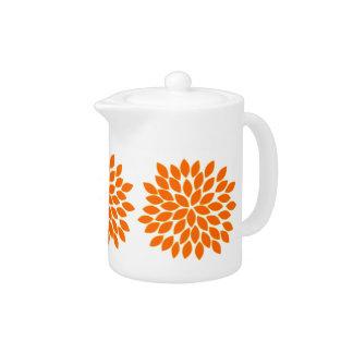 Tetera anaranjada moderna de la flor de la