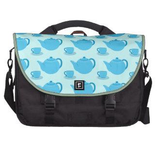 Tetera azul clásica bolsas para portatil