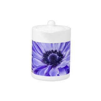 Tetera azul de la flor del aster