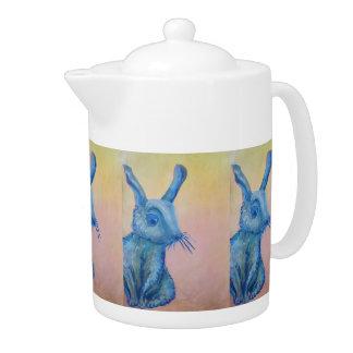 tetera azul del conejito