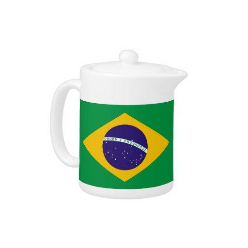Tetera brasileña de la bandera
