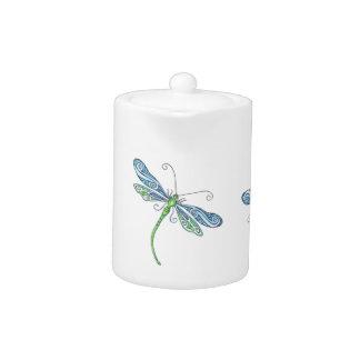 Tetera caprichosa de la libélula