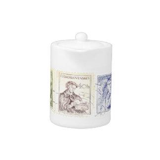 Tetera checa de los sellos