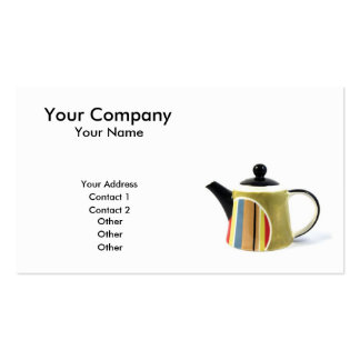 Tetera colorida tarjetas de visita