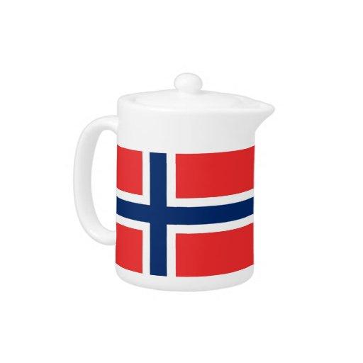 Tetera de la bandera de Noruega