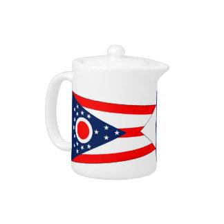 Tetera de la bandera del estado de Ohio