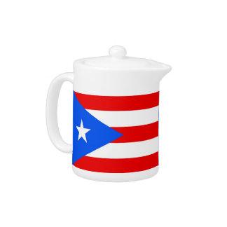 Tetera de la bandera del estado de Puerto Rico