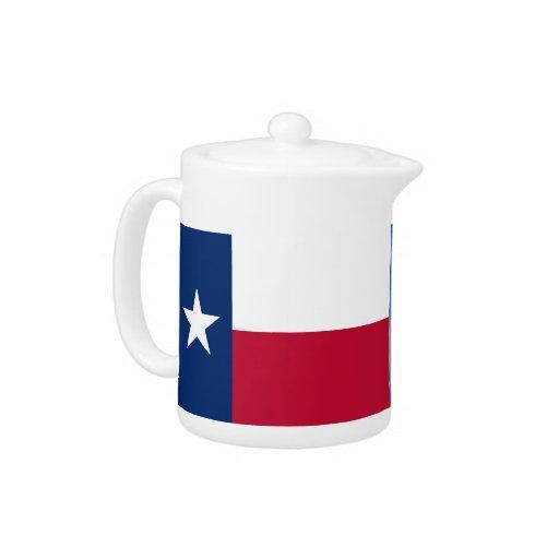 Tetera de la bandera del estado de Tejas