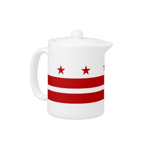 Tetera de la bandera del Washington DC