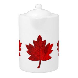 Tetera de la hoja del Canadá-Arce