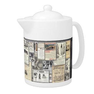 Tetera de la porcelana de los anuncios del vintage