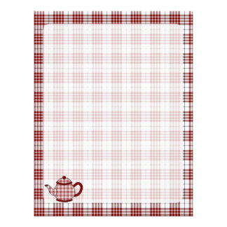Tetera de la tela escocesa de tartán de Buchanan Membrete A Diseño