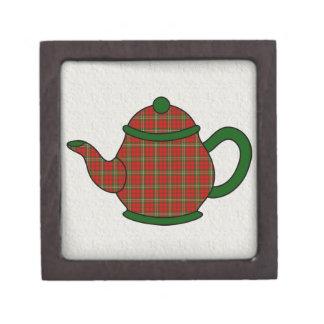 Tetera de la tela escocesa de tartán de Scott Cajas De Joyas De Calidad
