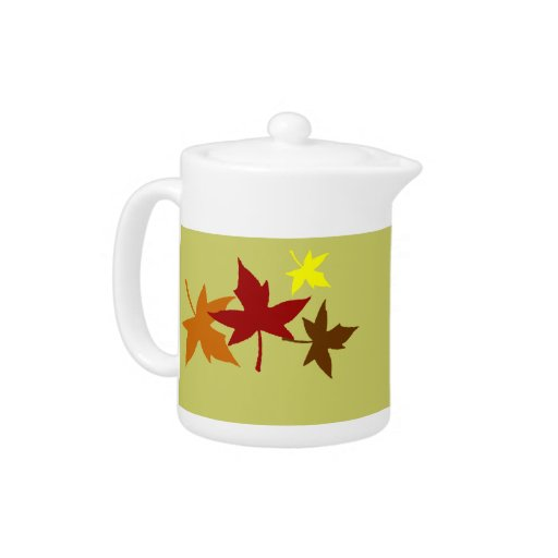 Tetera de las hojas de otoño
