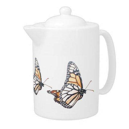 Tetera de las mariposas de monarca