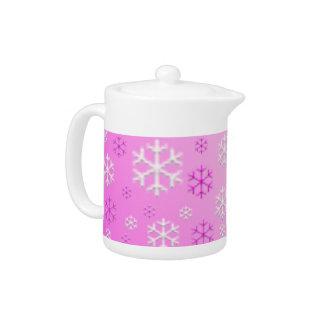 Tetera de los copos de nieve