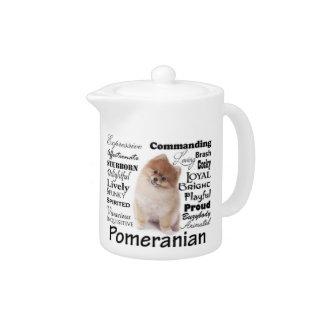Tetera de los rasgos de Pomeranian