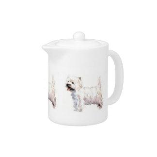 Tetera de Terrier blanco de montaña del oeste
