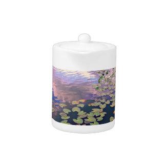 Tetera de Waterlilies del zen