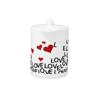 Tetera del amor del el día de San Valentín