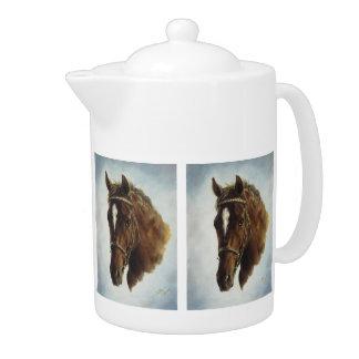 Tetera del caballo del funcionamiento