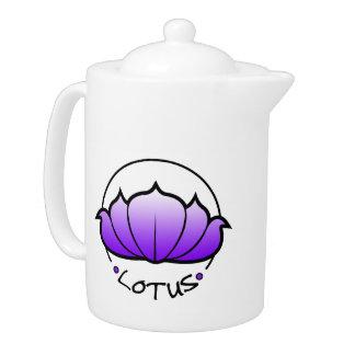 Tetera del flor de Lotus púrpura