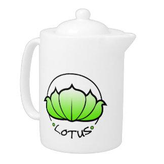 Tetera del flor de Lotus verde