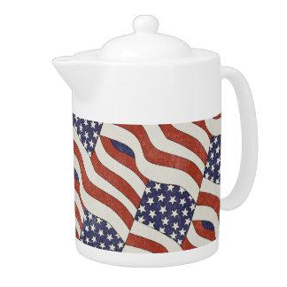 Tetera del modelo de la bandera americana