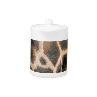 Tetera del modelo del estampado de girafa