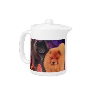 Tetera del perro chino del heARTdog de CASEY y de