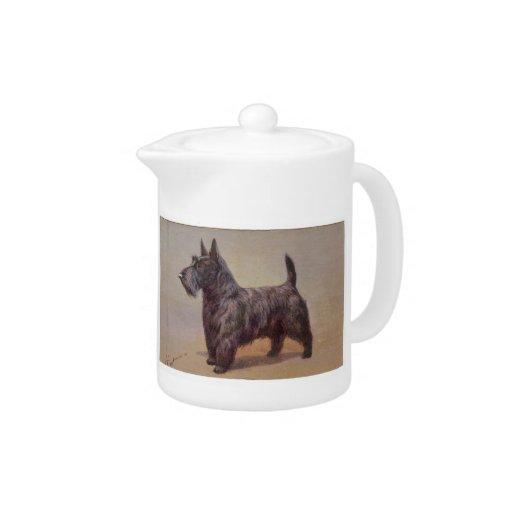 Tetera del perro de Terrier del escocés