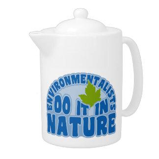 Tetera del personalizado de los ecologistas