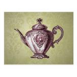 Tetera del Victorian del vintage Postales
