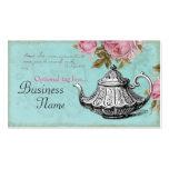 Tetera del vintage plantillas de tarjetas de visita