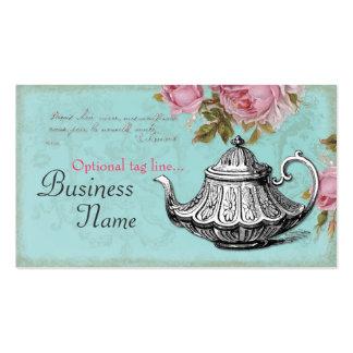 Tetera del vintage tarjetas de visita