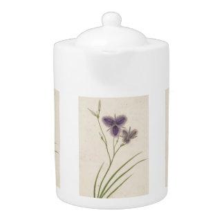 Tetera floral de los Wildflowers del vintage