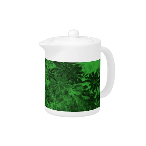 Tetera floral verde