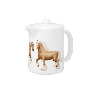 Tetera gitana irlandesa del caballo del Palomino