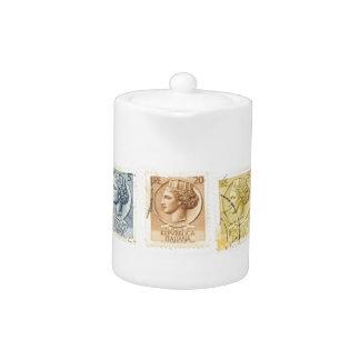 Tetera italiana de los sellos