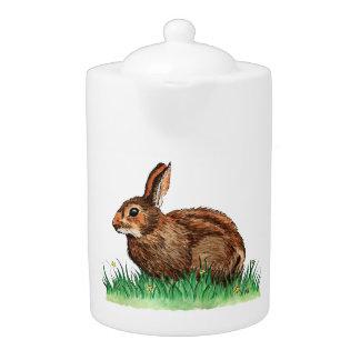 tetera linda del animal del conejo