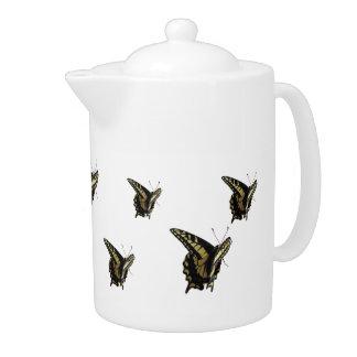 Tetera - mariposas de Swallowtail