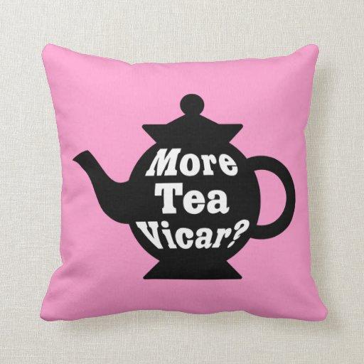 ¿Tetera - más vicario del té? - Blanco y negro en  Cojines